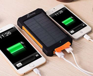 Caricabatterie solare 10000mA/h Hiluckey Portatile.