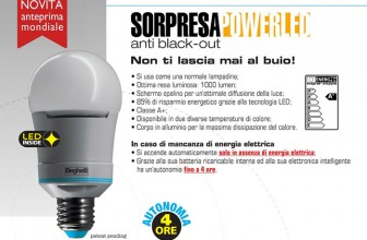 Lampada LED 10W Beghelli Luce Calda o Fredda Cod 56300