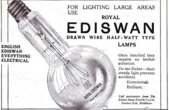 La storia della luce elettrica